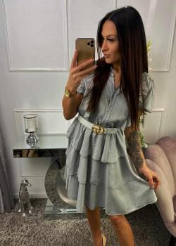 Kleid GLORRY Hellgrau