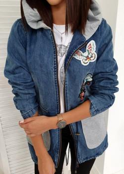 Lange Jeansjacke SOFIA Blau