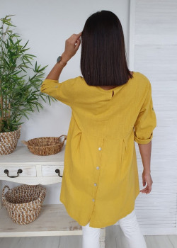 Lange Bluse LINO Gelb
