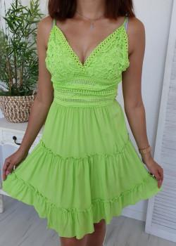Sommer Kleid NANCY neongrün