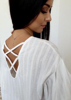 OVERSIZE Bluse M&V Weiß