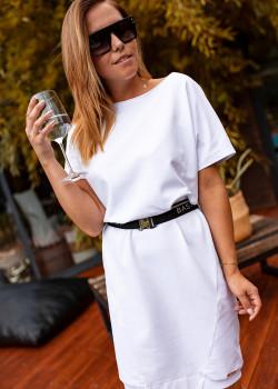 OVERSIZE  Kleid BASTET Weiss