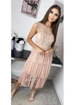 Spitzen Midi Kleid MEGGAN Rose