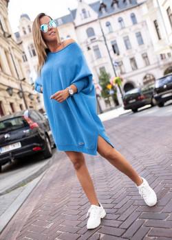 OVERSIZE Pullover BASTET Blau