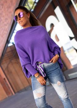 Sweter OVERSIZE BASTET fiolet