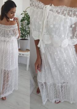 Maxi Kleid MANOSQUE Weiß