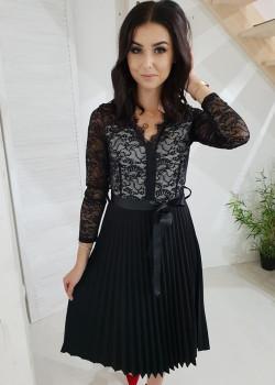 Spitzen Kleid SOFIA Schwarz