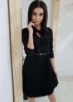 Plisiert Kleid LORRA Schwarz