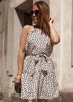 Mini Kleid BASTET Hellbeige